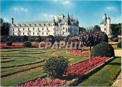 Modern Postcard Loire château Chenonceau (Indre and L) the castle and the to