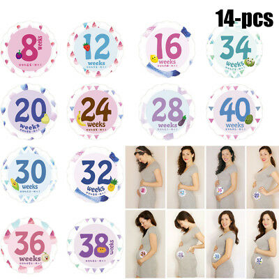 14 Sheets Belly Stickers Numbers Weekly Photo Belly Pregnancy Decor Maternity