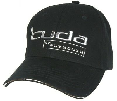 Plymouth Barracuda - Cuda Chrome Embossed Hat Cap - Black