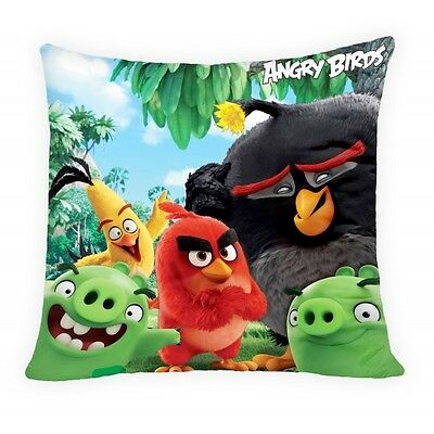 NEW ANGRY BIRDS cushion cover 40x40cm red