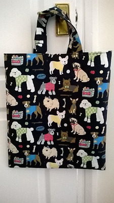 Tote bag hand crafted dogs NEW fully lined unique various colours short handle