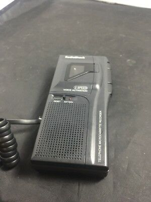 RadioShack 43-476 Telephone Microcassette Recorder 2 Speed Voice Activation