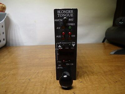 blonder tongue amcm 860 frequency agil modulator