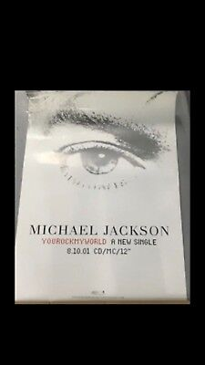 Michael Jackson You Rock My World Record Shop Promotional Poster
