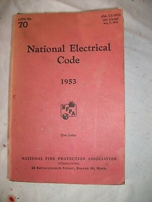 1953 National Electric Electrical Code Book National Fire Protection