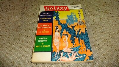 Vintage GALAXY Science Fiction Pulp Digest Magazine Feb 1965 Vol 23 # 3