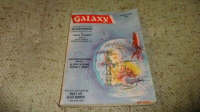 Vintage GALAXY Science Fiction Pulp Digest Magazine Aug 1965 Vol 23 # 6