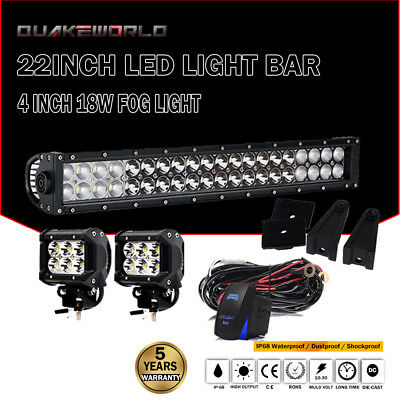 """22inch 120W LED Work Light Bar Spot Flood For Offroad Jeep Truck 4WD SUV 20"""""""