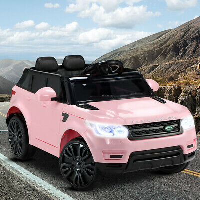 Girls Ride on Car Range Rover Sport Coupe Electric Battery Remote Kids Toy Pink
