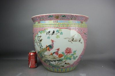 20th C. Chinese Famille-rose Enameled Scroll Pot