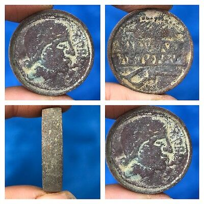 Antique Old Roman Double Side Bronze Coin