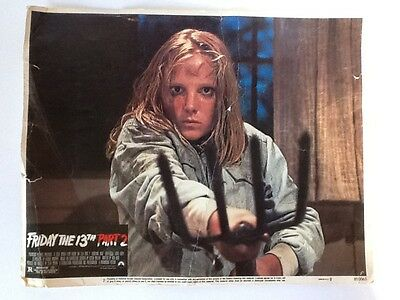 FRIDAY THE 13th Part 2 Lobby Card - Rough But Would Look Great Framed Horror