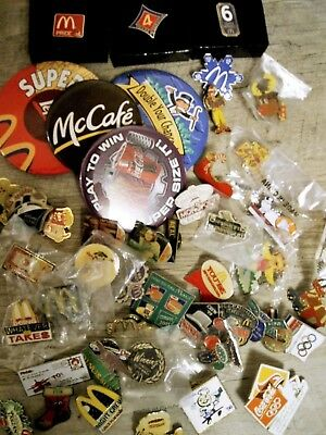 Lot 50+ McDonald's Employee Pins 1990s/early 2000s