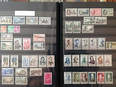 France complete year set 1957 52 stamps    MNH **