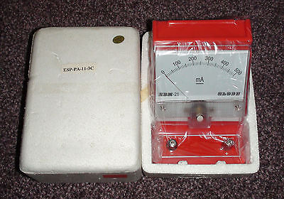 Single range 0 – 500 mA DC Analogue Desktop Ammeter BNIB