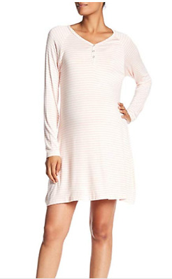 Lamaze Maternity/Nursing Long Sleeve Night Gown by Grapefruit Striped NWT