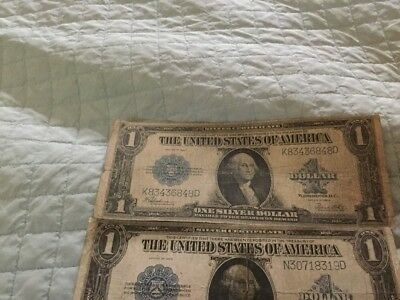 Lot of 3 1923 U.S. $1 Dollar Silver Certificates Currency Bill Note