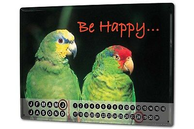 Dauer Wand Kalender Vogel G. Huber Be Happy Papagei Metall Magnet