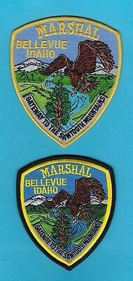 BELLEVUE MARSHAL's OFFICE PATCH SET ~ IDAHO ~ BEAUTIFUL ARTWORK & COLORS ~ EAGLE