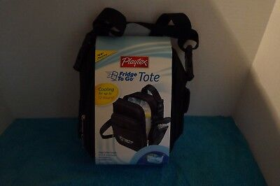 New PLAYTEX Fridge To Go Tote  Baby Bottle or Toddler Cup Snack 12hr Cooler Bag