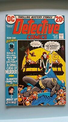 Detective Comics # 427 A Small Case of Murder ! grade 8.0 scarce book !!