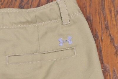 Under Armour Medal Play Golf Shorts Beige Boy's Large L