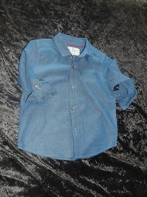 Mothercare Shirt Age 12 - 18 Months With Turn Up Sleeves Brand New No Tags