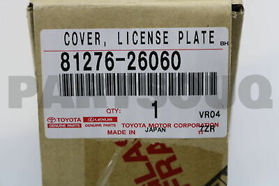 8127626060 Genuine Toyota COVER, LICENSE PLATE LAMP 81276-26060