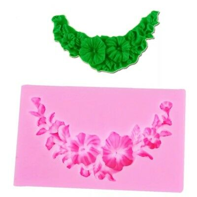 Small Flower Wreath Reusable Silicon / Soap / Fondant Icing / Chocolate Mould