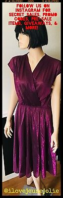 NWT RARE VTG News from CALIFORNIA SHIMMER Fit & Flare Dress Skater Pinup M MOD