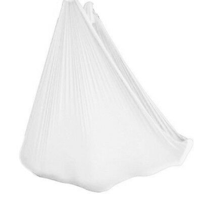 (White) - wellsem Deluxe L:5.5 Yards W:3 Yard Pilates Yoga Flying Swing Aerial