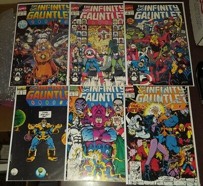 INFINITY GAUNTLET #1-#6 complete set NM+  AVENGERS: INFINITY WAR THANOS
