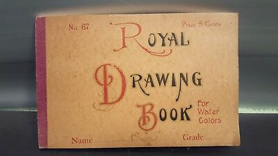 Vintage Royal Drawing Water Colors Book 8.5``