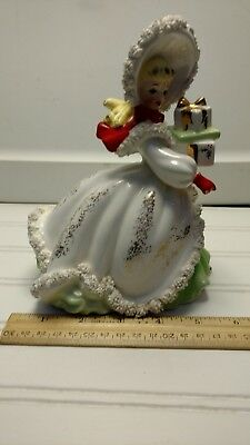 Vintage Josef Originals Style - Girl with Packages-Christmas-7.5 in figure