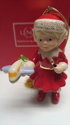 Lenox 2015 Edwina the Elf Christmas Ornament - New NIB !!