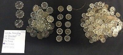 AMOUNT ANTIQUE 184 x  LEAD CRYSTAL ROSETTES PRISMS  FOR CHANDELIERS