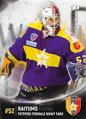 Martins Raitums, polish 17-18 set, Bayreuth Tigers (DEL 2) LATVIA