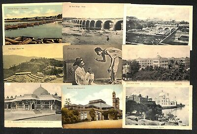 Lot 18 vintage postcards India mixed