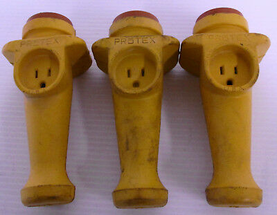 (3) Daniel Woodhead Protex Portable Electric Hand Lamp Acc Side Outlet Handle