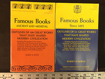 Lot of 2 Famous Books: Since 1492 & Ancient and Medieval, Robert B. Downs (1965)