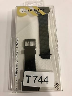 Case-Mate - Scaled Smartwatch Band for Apple Watch 38mm - Black-T744