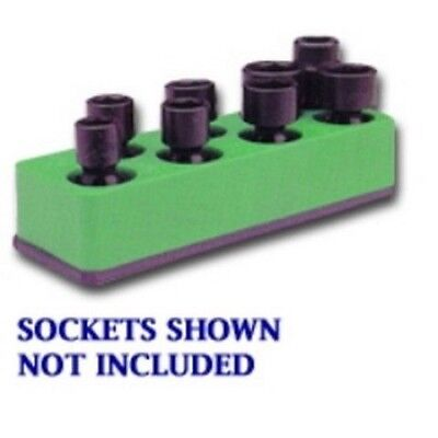 3/8 in. Drive Universal Neon Green 8 Hole Impact Socket Holder MTS885 Brand New!