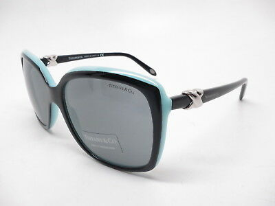 78b167129ef2 NEW TIFFANY   Co. TF4076 8157 3C BLACK ROSE   GREY LENS SUNGLASSES ...