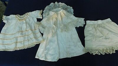 vtg lot BABY dress coat slip re purpose rescue