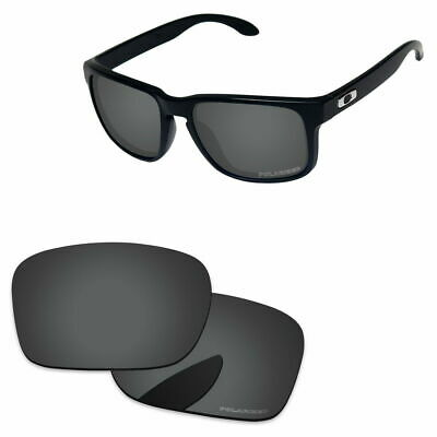 e5447b5dec0 Black Grey Polarized Etched Replacement Lenses For-Oakley Holbrook Sunglass