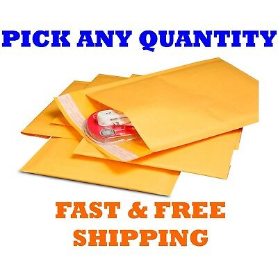 """#0000 4x6 KRAFT BUBBLE MAILERS SHIPPING MAILING PADDED BAGS ENVELOPES 4"""" x 5"""""""