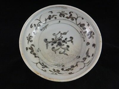 "Hoi An Hoard Bowl Vietnamese 15th c. Bowl, Floral. Butterfields tag. 8 3/4"" dia."