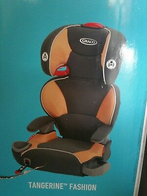 Graco Affix Highback Booster Car Seat with Latch System, Tangerine