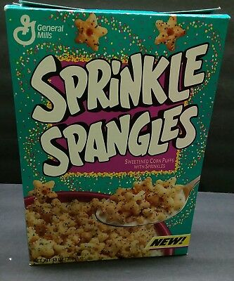 Classic  1993 General Mills SPRINKLE SPANGLES Cereal empty box good old days