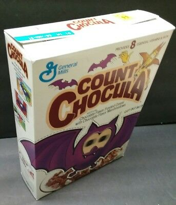 Count Chocula  empty Cereal Box Vintage 1992  bat  Moving Eyes good old days